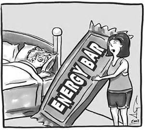 Energy bar cartoon