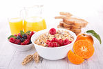 muesli,fruits and orange juice