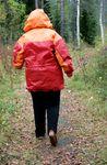 Overweight women hiking